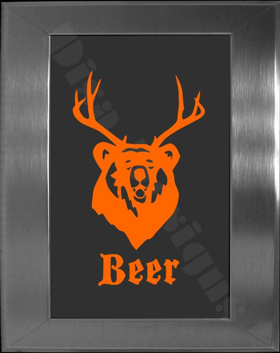 Our beer vinyl decal is it a bear or is it a deer no its a beer car decal