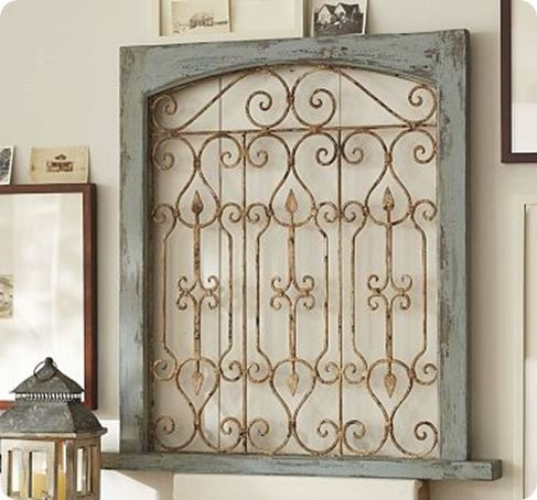 Gate Wall Art -Dishfunctional Designs: Don't Fence Me In: Creative Uses for Old Salvaged Fencing