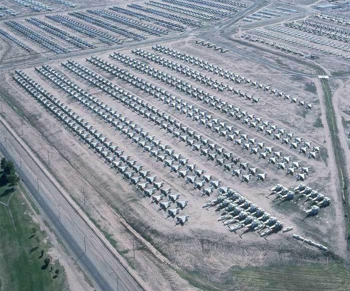 The Worlds Largest Bone Yard, Tucson, Arizona: