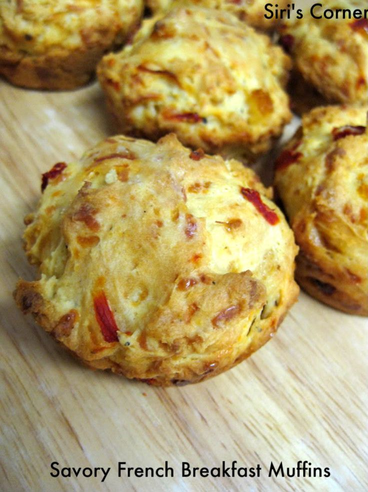 Savory French Breakfast Muffins - this is certainly what I'll be bringing to Bastille Day Brunch this weekend.