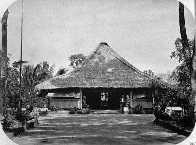 Pasanggrahan (gastenverblijf) in de naaste omgeving van de Borobudur