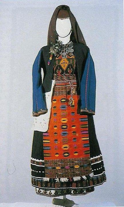 Festive Greek 'Anatoliki Rumelia' costume .  From the village of Kavakli…
