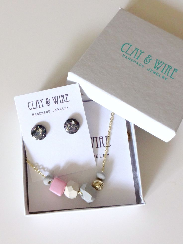 Pretty Things from Clay & Wire. Handmade ooak polymer clay jewellery. On the blog Cory U of CUExperiments