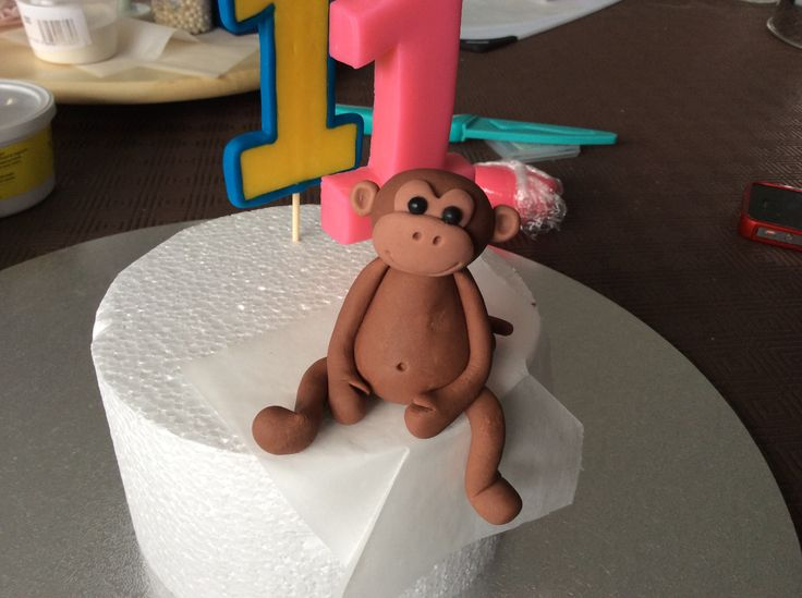 Monkey for Emma's jungle birthday cake