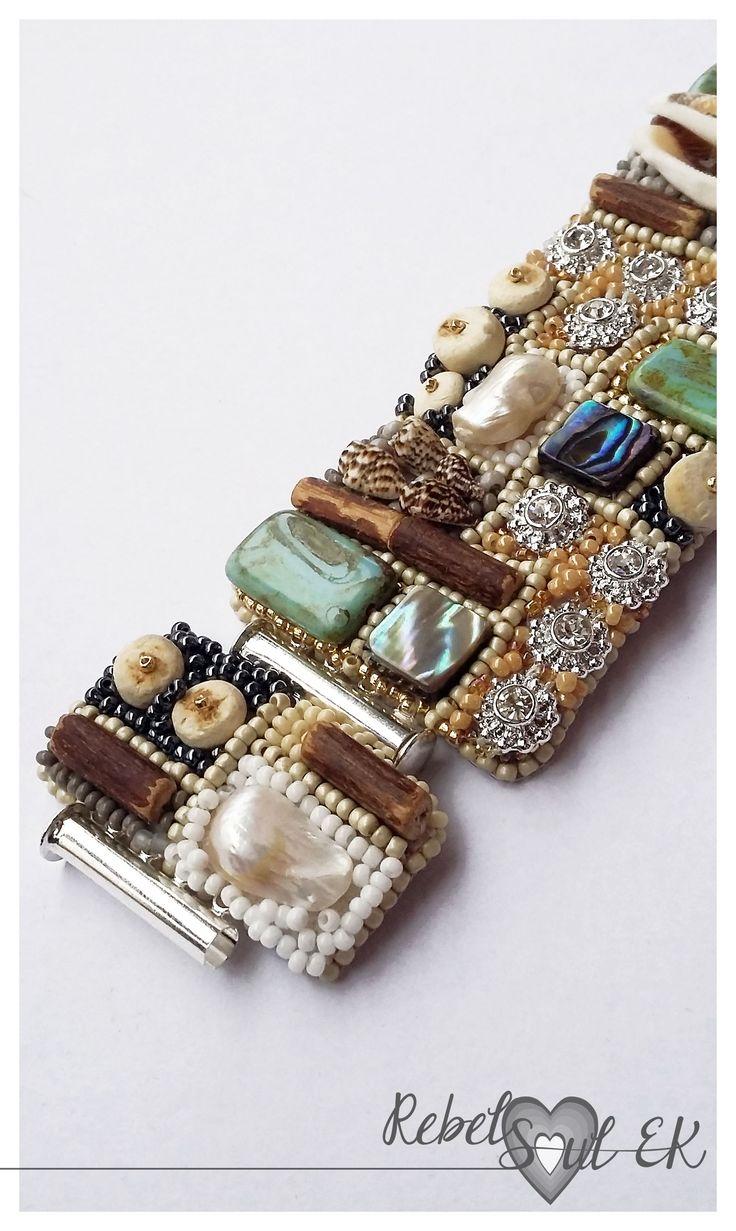 "▼Beach wedding cuff Mermaid bracelet ""ANTIQUE DRAWER""▼"