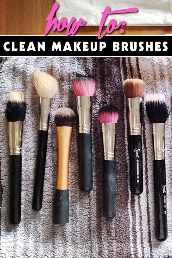 how to really clean your makeup brushes first us promotion and clean makeup brushes. Black Bedroom Furniture Sets. Home Design Ideas