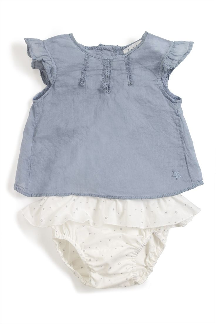 Tocoto Vintage Baby Girl Top and Bloomers Set - Girls Clothing - Baby Clothing and Accessories