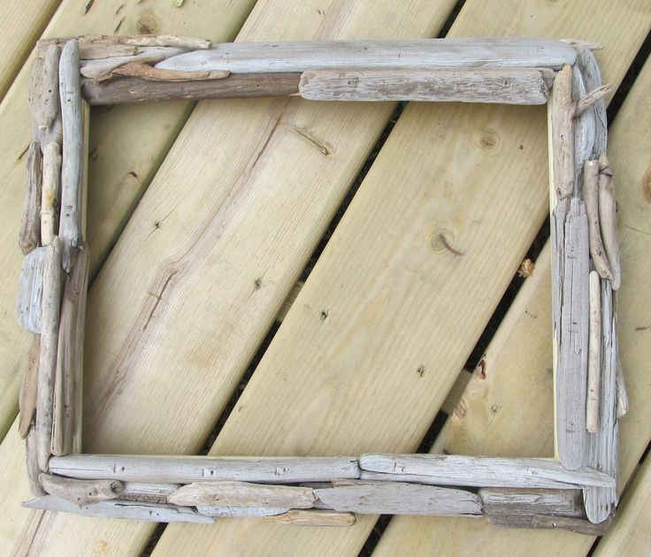 driftwood frame wide sides great lakes beach nature great lakes c 4000 via etsy - Driftwood Picture Frame