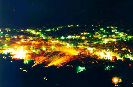 Rocketwar tradition in Chios - Greece