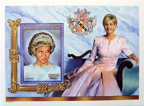 Princess diana quot formal potrait quot commemorative stamp sheet issued by