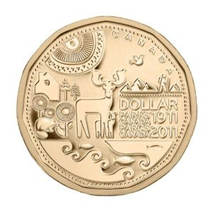 Parks Canada Centennial Commemorative Loonie - never seen this in circulation ...... Humm!