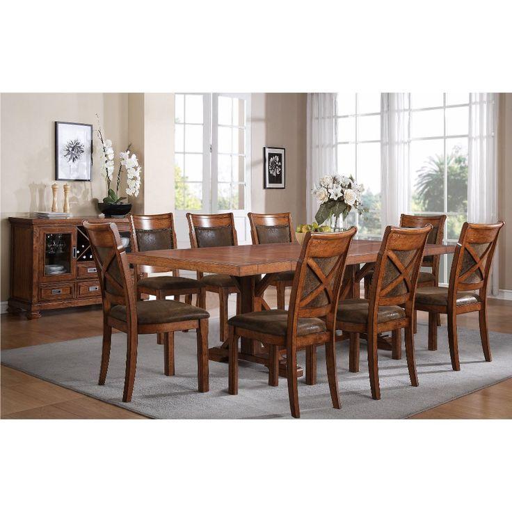 Brown 5 Piece Dining Set   Caramel   RC Willey Furniture ...