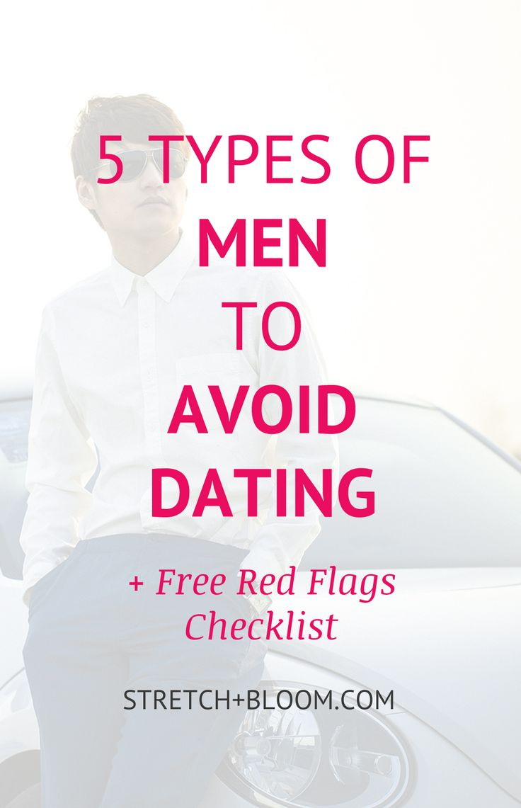 If you're tired of getting hurt, getting used, getting ignored, getting played, do yourself a favor and read this article. When you're done download the red flags list and print it out for reference. The best way to avoid getting hurt is to cull out the wrong guys early.  Click the pin to learn about those 5 types of men to avoid like the plague if you want to keep your heart and dignity intact.