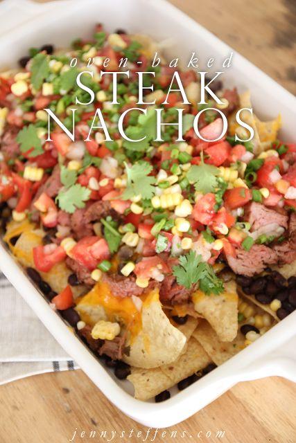Jenny Steffens Hobick: Oven-Baked Steak Nachos   Game Day Favorites