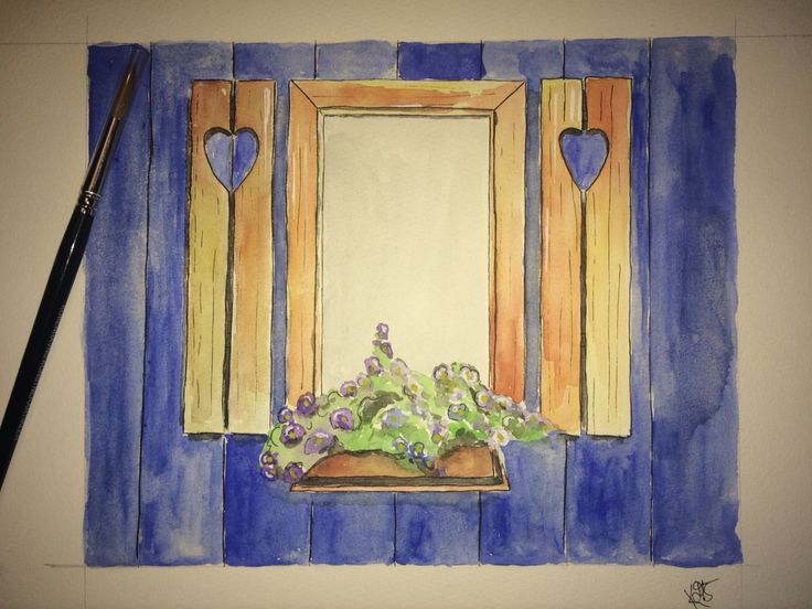 """""""My home is my sanctuary. I fill it with love and peace""""  Watercolor"""