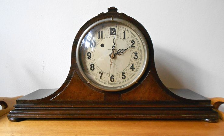 RARE Antique Working General Electric Large Mantle Clock Westminster Chimes 1930s. $180.00, via Etsy.