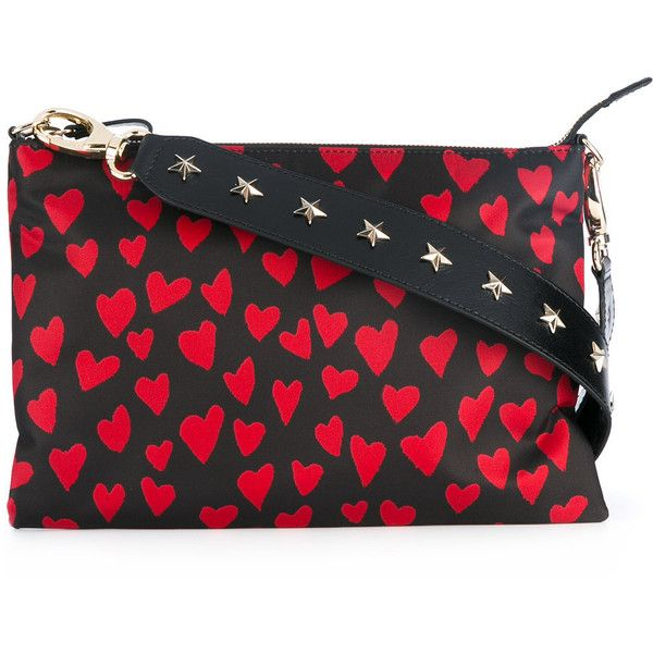 Red Valentino heart print crossbody bag (2568885 PYG) ❤ liked on Polyvore featuring bags, handbags, shoulder bags, black, crossbody purse, red valentino purse, crossbody handbag, red valentino and cross body