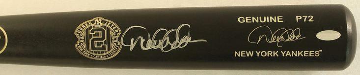 Derek Jeter Signed Yankees Louisville Slugger P72 Baseball Bat With Final Season Retirement Logo (Steiner COA & MLB)