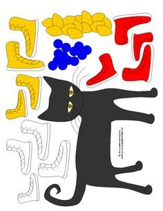 Pete the Cat Templates. My preschoolers absolutely LOVE Pete the Cat!