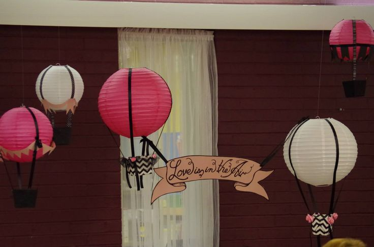 Love is in the Air-Hot Air Balloon theme bridal shower!
