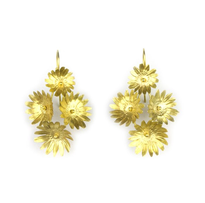 Fiori Earrings by The Golden Smith Shop via @bigcartel #bigcartel #gold #golden #handcrafted #jewelry #handmade #dressy #wedding #fabulous #fashion