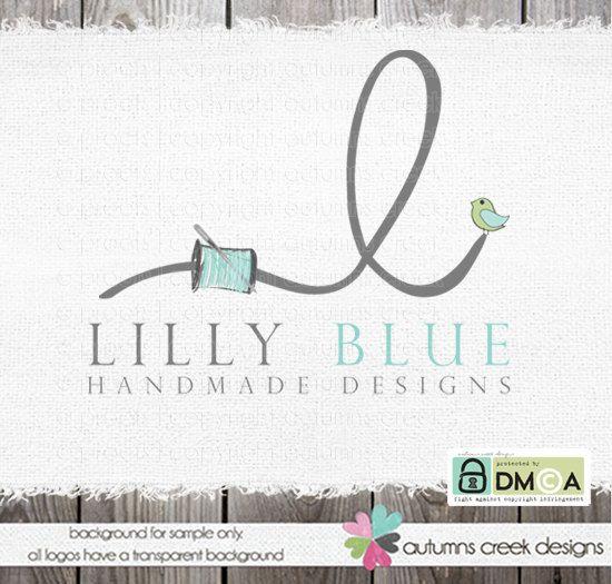 sewing logo   premade Logo   applique logo  Hand by autumnscreek