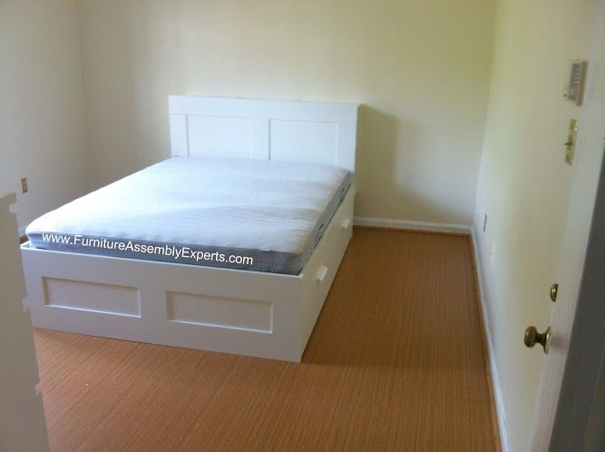 Ikea Brimnes Storage Bed Assembled In Richmond Va By Furniture Assembly Experts Llc Soverom Farger Soverom Farger