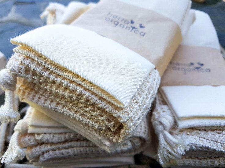 zero waste kit, organic cotton produce bags