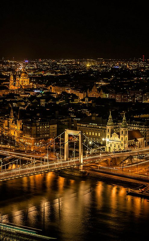 Budapest in night, Hungary