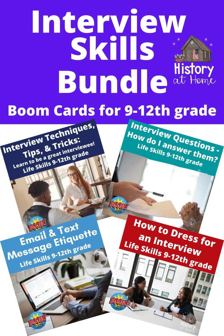 Interview Skills Bundle Boom Cards For 9 12th Grade Interview Skills High School Resources Middle School Resources