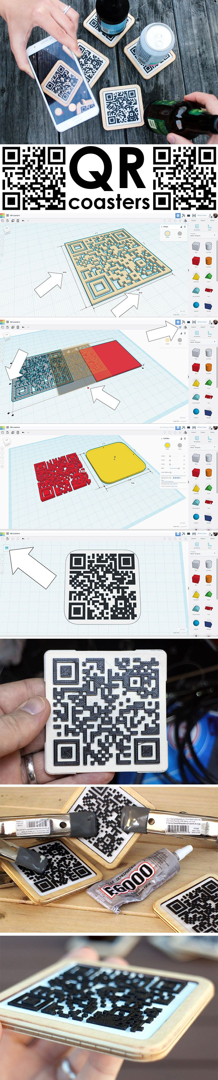 These QR Coasters are great way to inform your guests at your next #party!