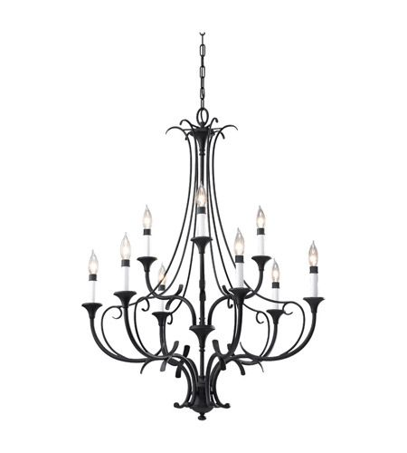 Feiss F2534/6+3BK Peyton 9 Light 31 inch Black Chandelier Ceiling Light #lightingnewyork #lny #lighting
