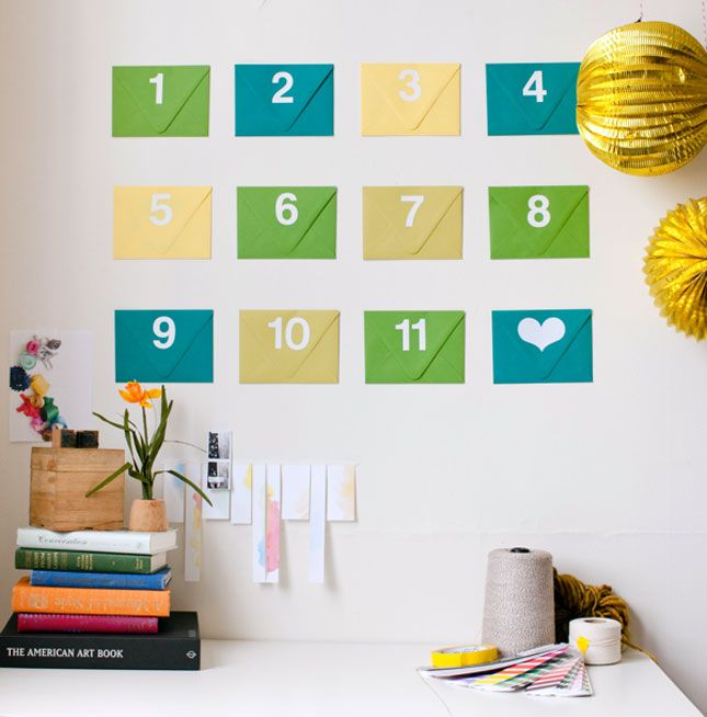 Advent calendar of notes, photos, coupons and other surprises for father's day! (or any holiday..anniversary...birthday month...)
