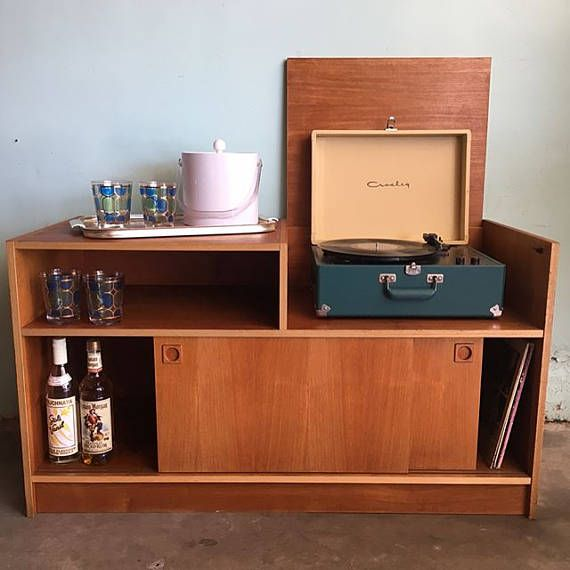 MID CENTURY MODERN Media Stand/Bar Cabinet Los Angeles