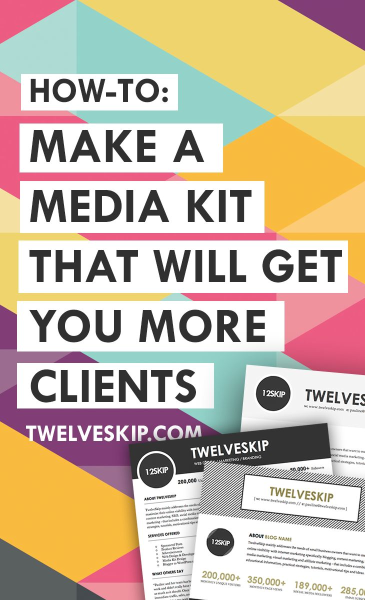 How to make a media kit.