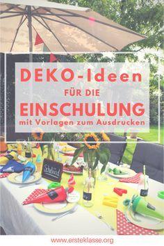 Effektvolle Deko-Ideen für die Einschulungs-Feier! Einfach und schnell!