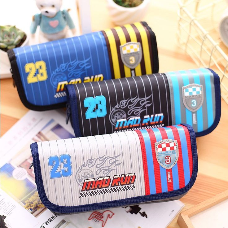 New Large Pencil case Bag for School Girls Boys multifunction pencil box Polyester School Supplies Deli Brand 66651
