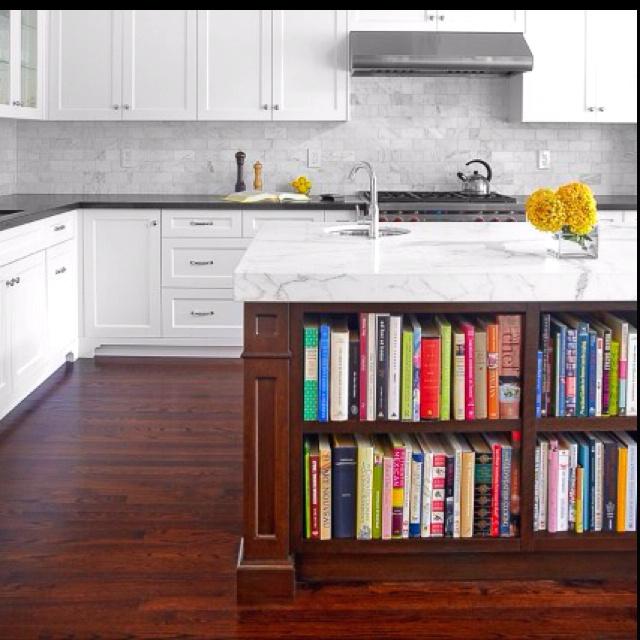 kitchen bookshelf the island new home ideas