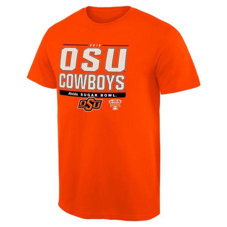 Oklahoma State Cowboys 2016 College Football Playoffs Sugar Bowl Bound Snap T-Shirt - Orange