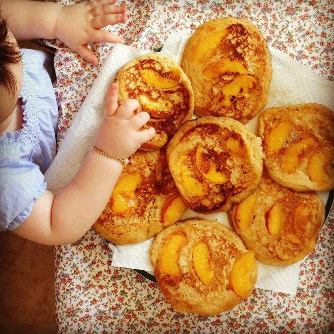 coconut peach pancakes – baby led weaning