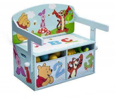 Disney Winnie the Pooh Opbergbank 62 x 43 x 57 cm lichtblauw