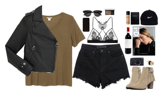 """""""Untitled #2686"""" by wtf-towear ❤ liked on Polyvore featuring Monki, T By Alexander Wang, Marc by Marc Jacobs, Alasdair, Fleur of England, NIKE, Yves Saint Laurent, NARS Cosmetics and Bare Escentuals"""