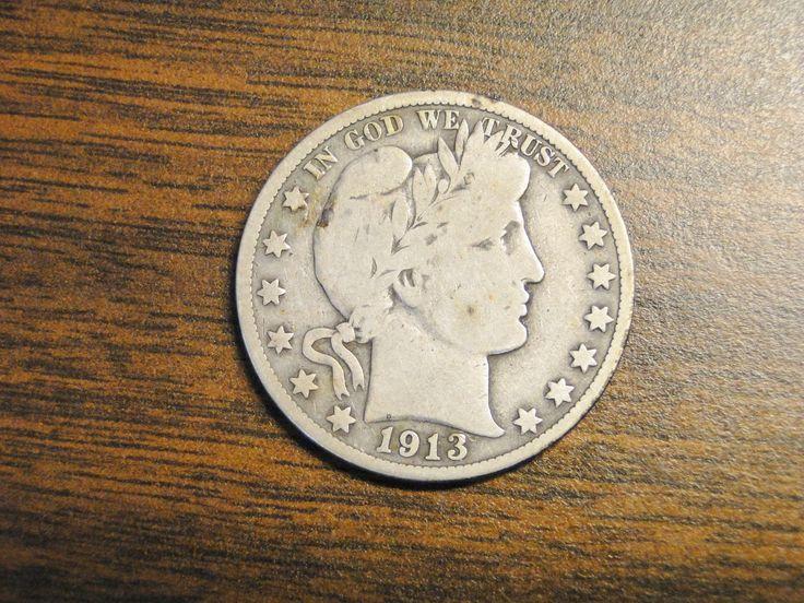 1913s Barber Half Dollar - Nice Old Coin! -  B by EagleDen on Etsy