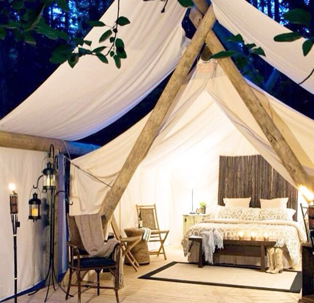 My idea of glamping!!