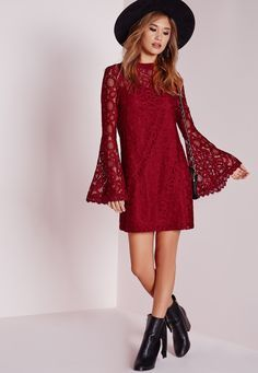 Charlotte g shore red dress long sleeve