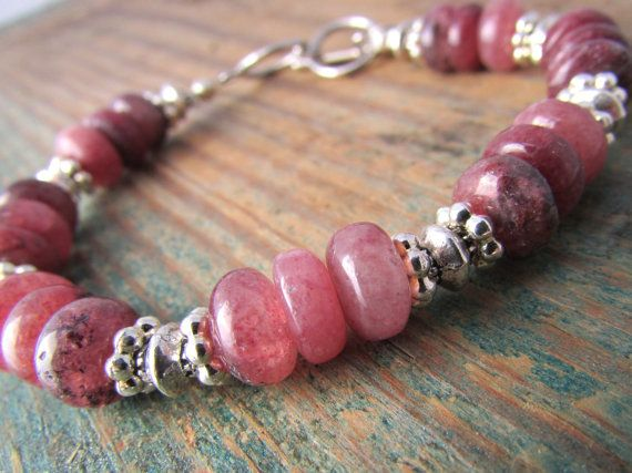 Muscovite Bracelet, pink muscovite, gemstone bracelet, adjustable