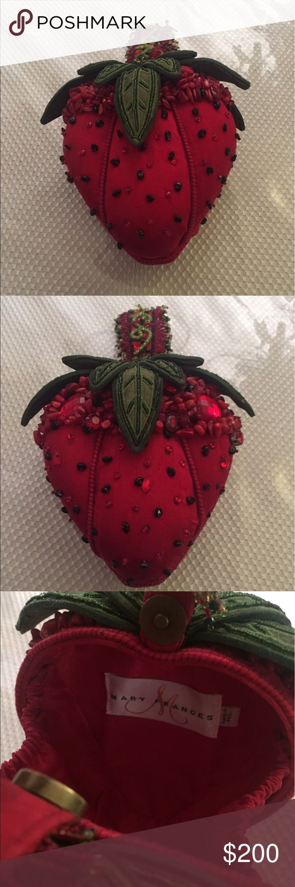 Mary Frances handbag Designer Vintage Mary Frances strawberry handbag in perfect condition Mary Frances Bags