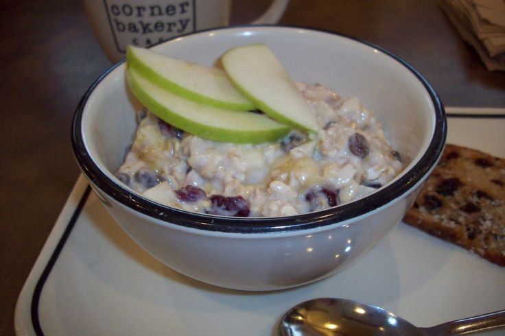 Chilled Swiss Oatmeal Recipe (a la Corner Bakery Cafe). I had this at the Corner Bakery in Chicago and it was amazing! Can't wait to try it at home!