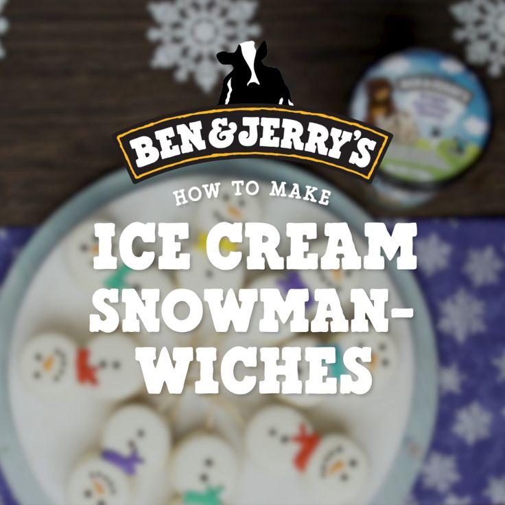 Ice Cream Snowman-wiches