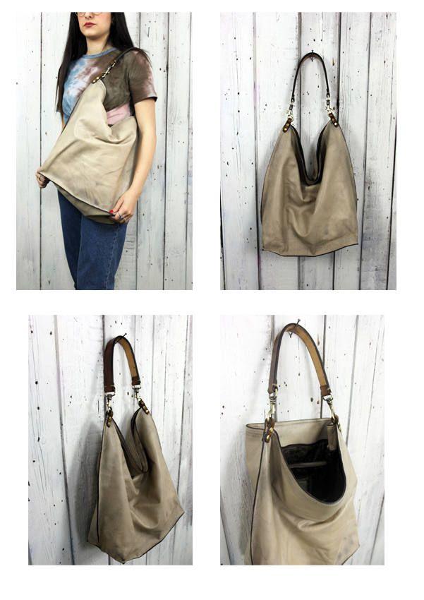 ALLEGRA BAG , Handmade vintage Italian Leather Tote Bag di LaSellerieLimited su Etsy